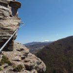Ferrata Monte Penna edge