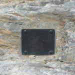 Ferrata Monte Sumbra Targa metallica