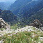 Ferrata Mormol 1 VII alpini dal bivacco