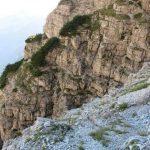 Ferrata Mormol 31 section of path inside the via ferrata