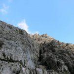 Ferrata Mormol 33 uphill section