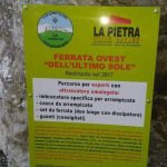 Ferrata Ovest Ultimo Sole cartello