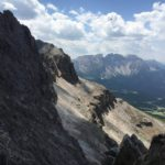 Ferrata Passo Santner 14 approach path