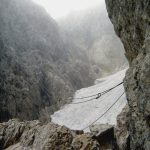 Ferrata Passo Santner Snow-covered canal