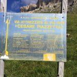Ferrata Piazzetta Cartello 1