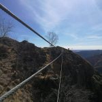 Ferrata Picasass 20 suspension bridge