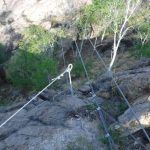 Ferrata Picasass 8 suspension bridge