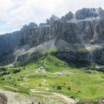 Ferrata Piccolo Cir Gardena Pass from the Alto