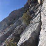 Ferrata Pisetta 8 frattura nella roccia