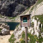 Ferrata Piz Lech Lago Boe Signboard