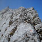 Ferrata Ponza Grande 24 aided stretch descent