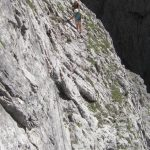 Ferrata Porton Velo 11 ledge