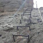 Ferrata Punta Penia Marmolada Placca Attrezzata Dettaglio