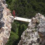Ferrata Ra Bujela 22 suspension bridge