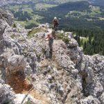Ferrata Ra Bujela 27 ridge