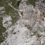 Ferrata Ra Bujela 31 Descent Rifugio Pomedes