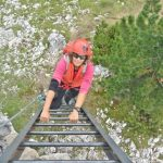 Ferrata Ra Pegna 8 downhill ladder