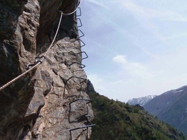 Ferrata Rocca Candelera 3 spigolo