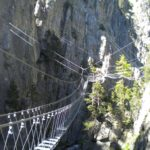 Ferrata Rocca Clari bridge