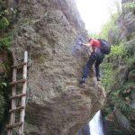 Ferrata Rocca dei Corvi 16 traverse