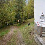 Ferrata Rocca dei Corvi 19 approaching signs