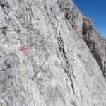 Roghel Ferrata Start with traverse