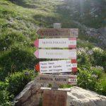 Ferrata Sartor Peralba 7 avvicinamento cartello