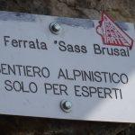 Ferrata Sass Brusai 36 attacco