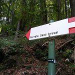 Ferrata Sass Brusai 37 avvicinamento cartello