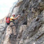 Ferrata Scala Menighel 3 scalinata