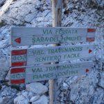 Ferrata Scala Menighel cartello