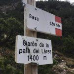 Ferrata Sora el Sass 4 signs