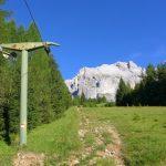 Ferrata Stella Alpina 44 avvicinamento lungo ex piste