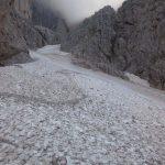 Ferrata Stella Alpina 64 nevaio fine canalone
