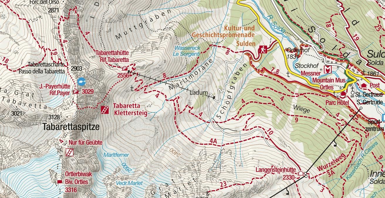 Ferrata Tabaretta Itinerary