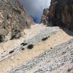 Ferrata Terza Cengia Pomagagnon gully downhill strobel