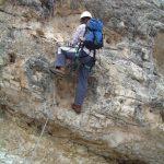Ferrata Tomaselli Fanes 26 traverse downhill