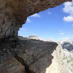 Ferrata Torre Toblin Scalette tetto roccioso