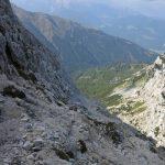Ferrata Uiberlachersteig 23 ultimi tratti di sentiero prima di croce