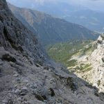 Ferrata Uiberlachersteig 23 last stretches of path before cross