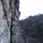 Ferrata Val Gallina B oblique traverse