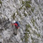 Ferrata Vandelli Sorapiss 10 ledge