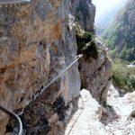 Ferrata Viali 38 edge between the two stairways