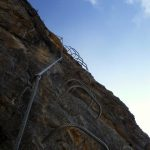 Via Ferrata Viali 39 second overhanging section