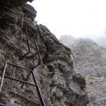 Ferrata Zacchi 17 stairs