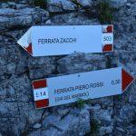 Ferrata Zacchi 3 crossroads mormol zacchi