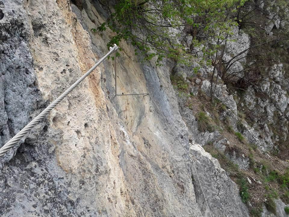 Ferrata corno Capre – parete centrale 4