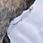 Ferrata delle Aquile 33 secondo ponte elicoidale