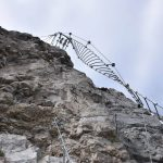 Ferrata delle Aquile 35 secondo ponte elicoidale attacco