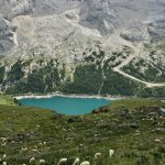 Ferrata delle Trincee Fedaia lake